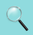 magnifying glass isolated mint background vector image vector image
