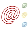 Mail sign Set of line icons vector image