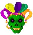 Mardi Gras skull vector image