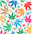 marijuana color pattern background vector image vector image