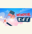 memorial day usa greeting card wallpaper hand vector image