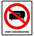No stop sign forbidden Head talking Silhouette vector image vector image