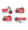 novel corona virus or covid-19stay at home vector image