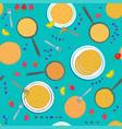pancake seamless pattern vector image vector image