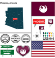 Phoenix Arizona set vector image vector image