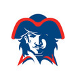 pirate head mascot vector image vector image