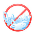 plastic bag ban sign vector image