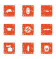 regulation icons set grunge style vector image vector image