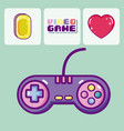 retro videogames cartoons vector image vector image