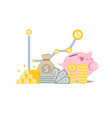 saving money for future and stability life vector image vector image