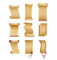 Set antique or old paper roll horizontal and