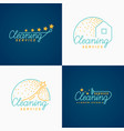 set cleaning logo vector image vector image