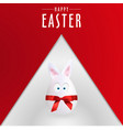 simple happy easter egg rabbit poster eps file vector image