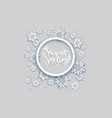 snowflakes winter holiday card vector image