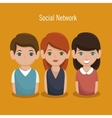 social network people community icon vector image vector image