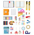 stationery set icons vector image vector image