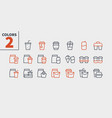 take out ui pixel perfect well-crafted thin vector image vector image