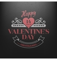 Typography Postcard Happy Valentine Day on a vector image vector image