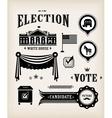 usa election icon set vector image vector image