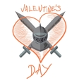 valentine knight vector image