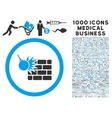 Wall Destruction Icon with 1000 Medical Business vector image vector image