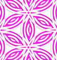 White and pink geometrical flowers seamless vector image vector image