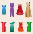 women different purposes elegant garments vector image vector image