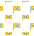 yellow flag with the image of the globe pattern vector image vector image