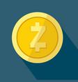 zcash icon as golden coin vector image vector image