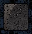 black water drops vector image