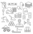 construction and finishing materials icon set vector image