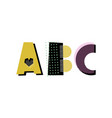 abc lettering vector image