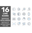 ai robot artificial intelligence icons vector image vector image