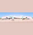 airport terminal with airplanes waiting for take vector image vector image