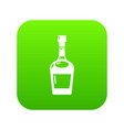 alcohol icon green vector image vector image