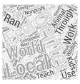 animal science Word Cloud Concept vector image vector image