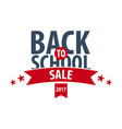 back to school logo or emblem sale and best vector image vector image