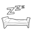 Bed icon outline style vector image vector image