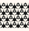 black and white modern abstract geometric pattern vector image vector image
