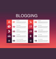 blogging infographic 10 option templatesocial vector image