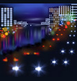 blurred lights in city night vector image vector image