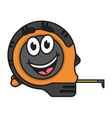 Builders tape measure with a big happy smile vector image vector image