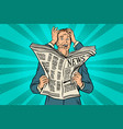 businessman shocked by bad news many hands vector image vector image