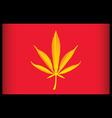 cannabis vietnam flag vector illustration vector image vector image