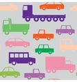 Cars and trucks seamless pattern vector image vector image