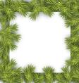 Christmas Fir Tree Frame vector image vector image