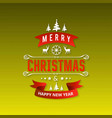 christmas greetings card with green background vector image vector image