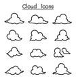 cloud icon set vector image vector image