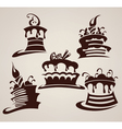 collection of cakes images and arts vector image vector image