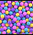 colorful candy sweet gumballs 3d background vector image vector image
